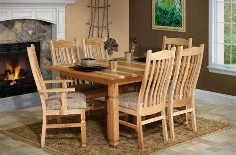 sanibel hickory dining furniture set countryside amish