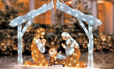 christmas scene decorations nativity decorations
