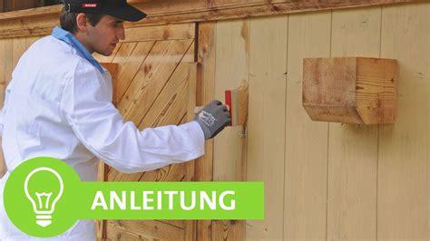 Geöltes Holz Mit Lasur Streichen by Holzfassade Balkon Zaun Gartenhaus Streichen Bzw