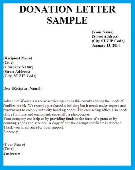 sample letters   donations