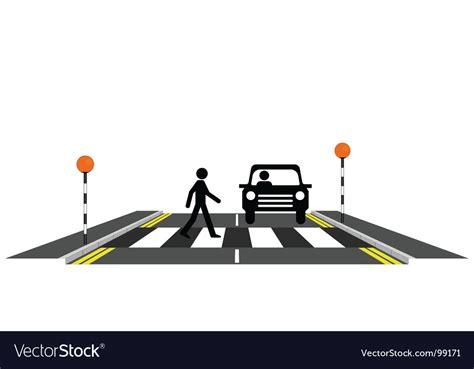 Zebra Crossing Pedestrian Vector Art