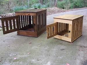 Dog crate end table wooden dog kennel indoor wood dog house for Indoor wooden dog crate