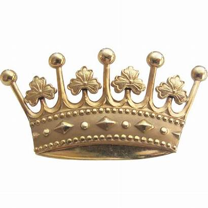 Crown Royal Gold Brooch Ruby Filled Lester