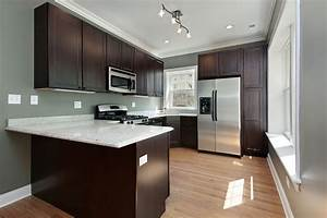 what color walls go with dark kitchen cabinets With best brand of paint for kitchen cabinets with hope wall art