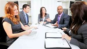 Female Business Executive Chairing Meeting Stock Footage
