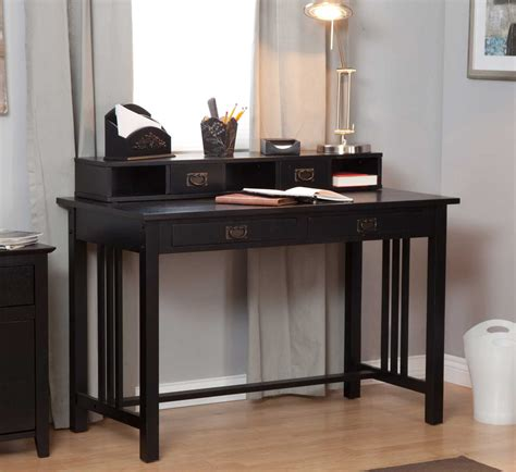 black writing desk with hutch black writing desks selection tips