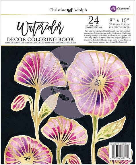christine adolf  foil watercolor book watercolor