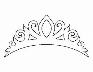 tiara pattern use the printable outline for crafts With tiara template printable free