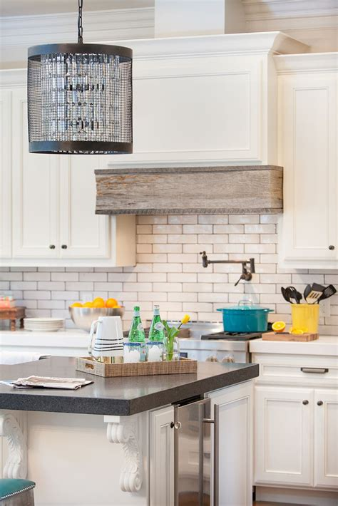 Kitchen Island Vent Ideas by Unique Range Wrapped With Reclaimed Barn Wood Room