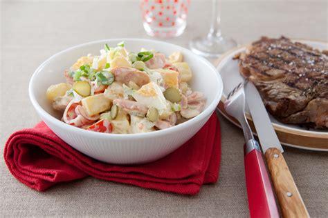 cuisiner entrecote entrecôte grillée au barbecue salade piémontaise page 1