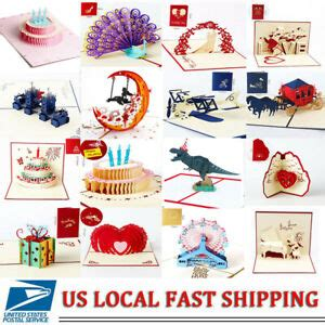 3D Pop Up Card Birthday Wedding Anniversary Greeting Cards