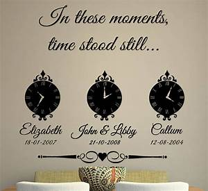 In these moments time stood still wall sticker by art