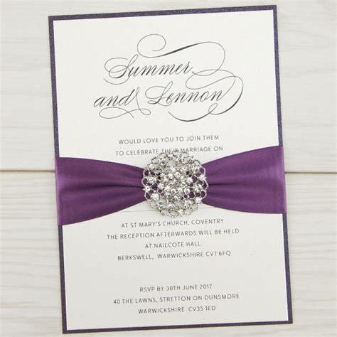 violet parcel wedding invitation pure invitation wedding invites