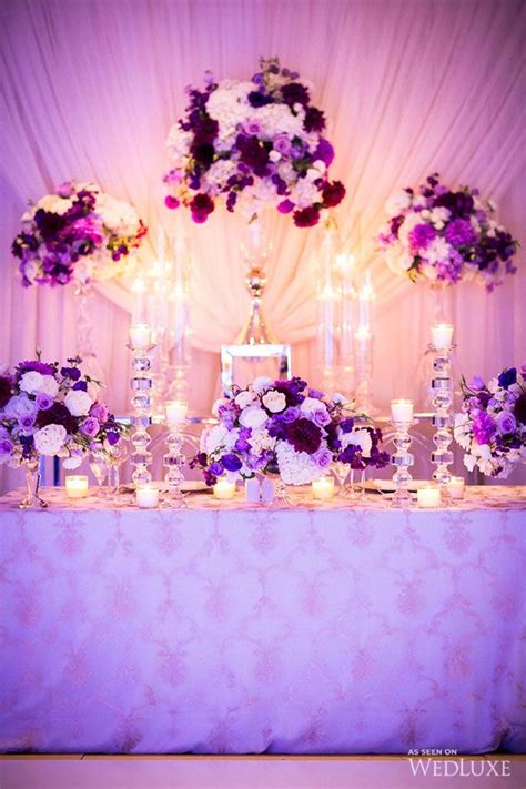 Purple & Gold Persian Wedding Silver wedding decorations