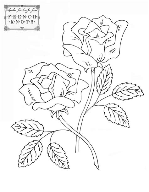 restful roses embroidery patterns french knots