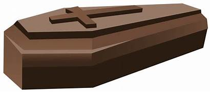Coffin Clipart Halloween Brown Clip Transparent Cercueil
