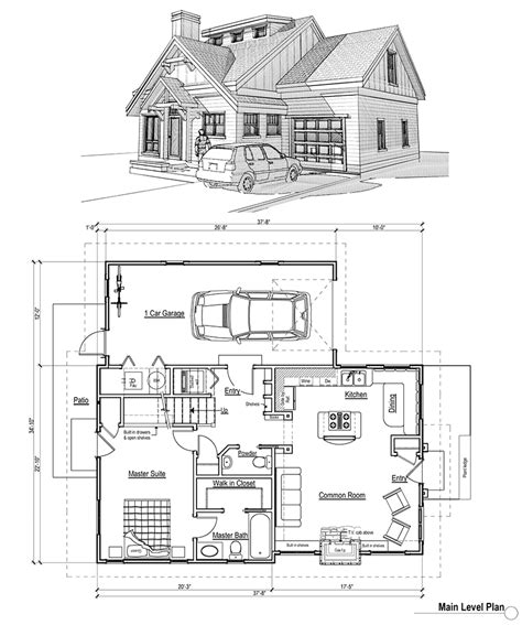 cottage floor plan home plans house plans by max fulbright designs