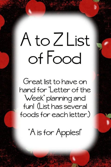 food that starts with the letter i a to z list of food foods for every letter of the 29341