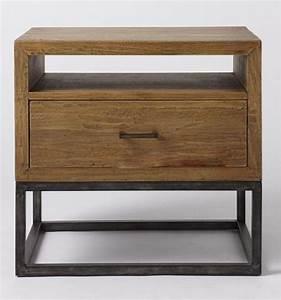Table Bois Et Fer : table de chevet fer et bois design en image ~ Teatrodelosmanantiales.com Idées de Décoration