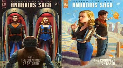 book cover dragon ball  androids android  android