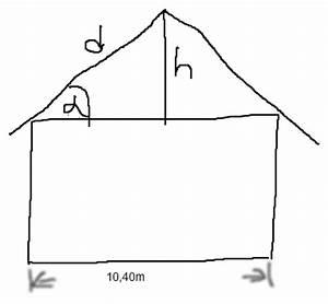 Gleichschenkliges Dreieck Schenkel Berechnen : neigungswinkel und h he des satteldachs berechnen kosinus pythagoras mathelounge ~ Themetempest.com Abrechnung