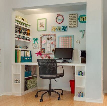 desk built into closet 17 best images about home office on pinterest small home