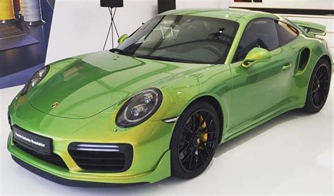 expensive porsche porsche 911 turbo s with paint worth over 90k most