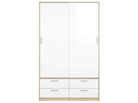 table de cuisine conforama armoire 2 portes 4 tiroirs lake coloris blanc chêne