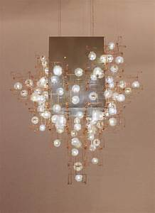 Art Craft Design Show Sculptural Chandeliers Accented With Real Dandelion Seeds