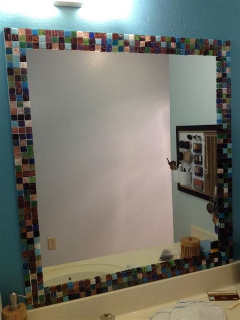 ideas   mosaic tile  bathroom mirror