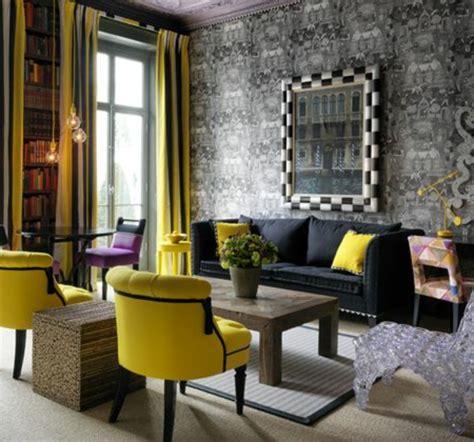 chaises jaunes stunning deco salon fauteuil noir ideas design trends 2017 shopmakers us