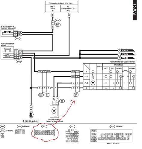 Wire Diagram 99 Forester by I Was Going To Replace The Power Window Switch On My