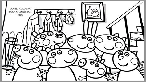 Peppa pig coloring page Coloring pages for kids