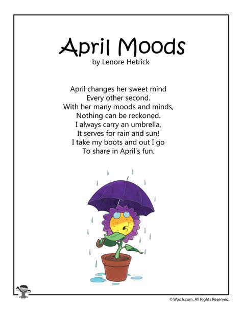 april moods printable kids poem woo jr kids activities