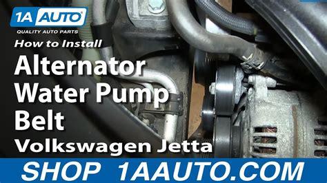 install replace alternator water pump belt