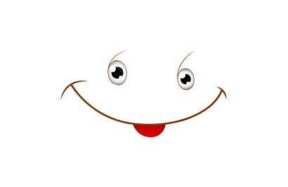 Cartoon Smile Face Vector Illustration Faces Funny