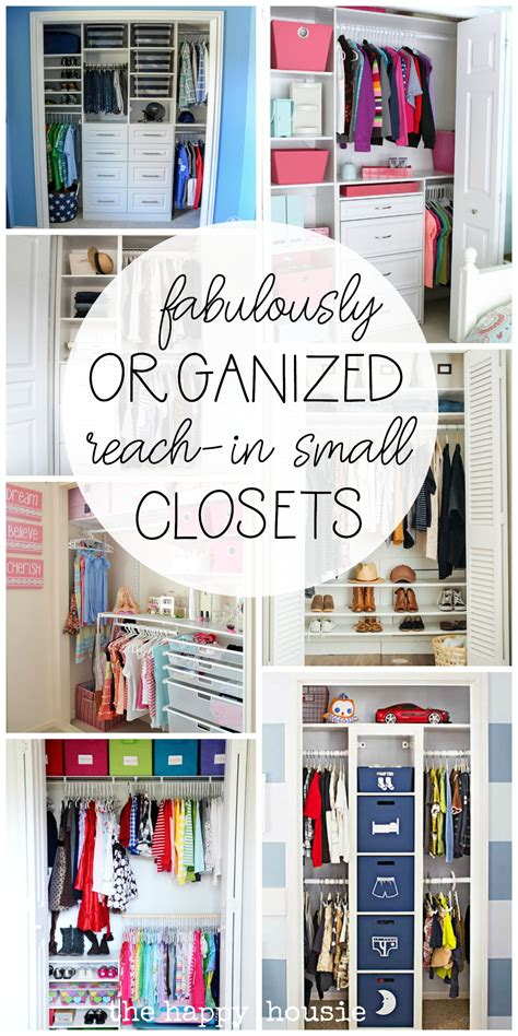 Closet Organization Ideas For Small Closets by Small Reach In Closet Organization Ideas The Happy Housie