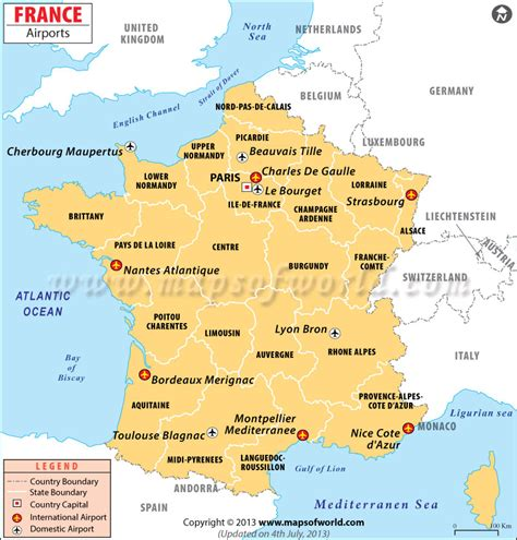 airports  france france airports map