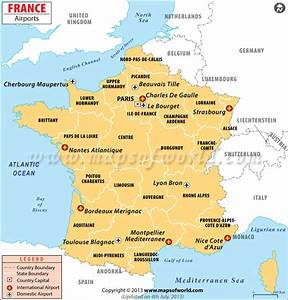 Airports in France, France Airports Map