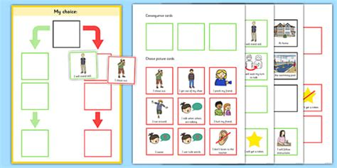 My Choice Editable Behaviour Chart  My Choice, Behaviour, Chart