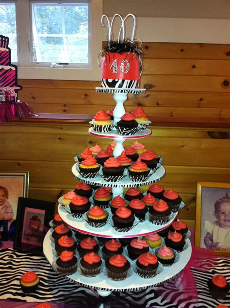 This is some next level hostessing, but here's the crux. Made this for my sisters 40th birthday party! | Cupcake cakes, 40th birthday parties, Cake