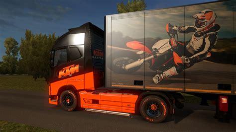 volvo trailer for ktm skin for volvo fh 2012 trailer schimitz ktm 1 28 x