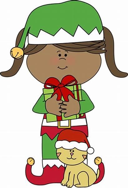 Elf Elves Christmas Clipart Cat Clip Santa