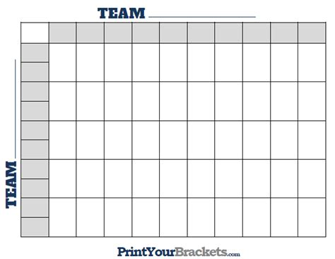 printable  square football grid template