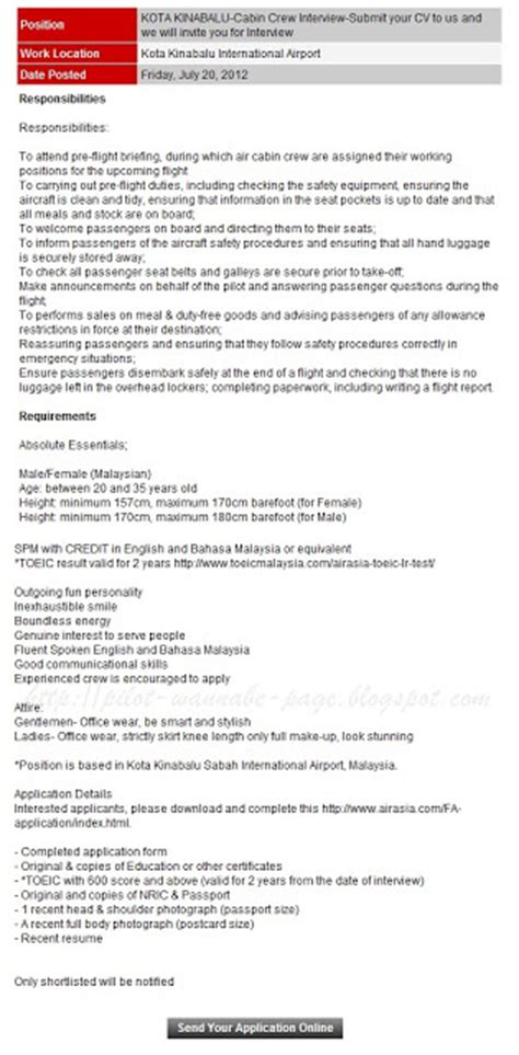 application letter for emirates cabin crew 28 images