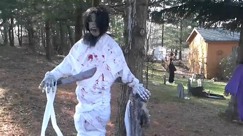 My Dads Halloween Decorations, Scary! 2009 Edition Youtube