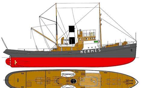 free ship plans quot hermes quot tugboat plans
