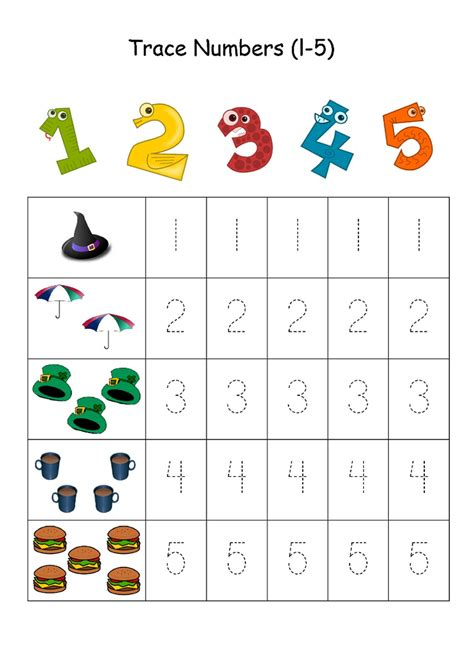 numbers   traceable learning printable