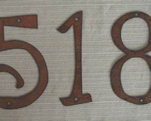 individual house numbers rustic metal 4 inch to 8 inch With where to buy house numbers and letters