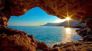 Playa Sol Acantilado Fondos de pantalla HD, Fondos de escritorio, Imágenes y Wallpapers HD